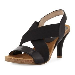 Anyi Lu Bella Crisscross Stretch Sandal 39 / 9 US